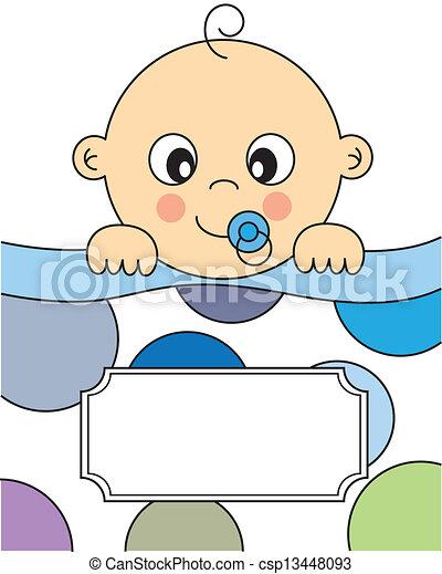 chłopiec niemowlęcia, spanie - csp13448093