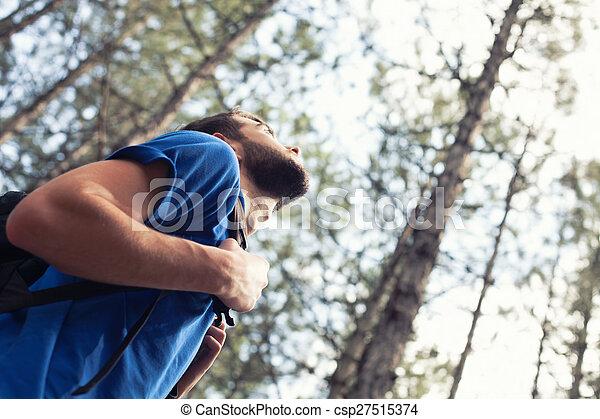 chłopiec, plecak - csp27515374