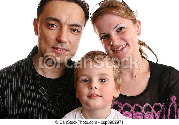 chłopiec, rodzina - csp0902971