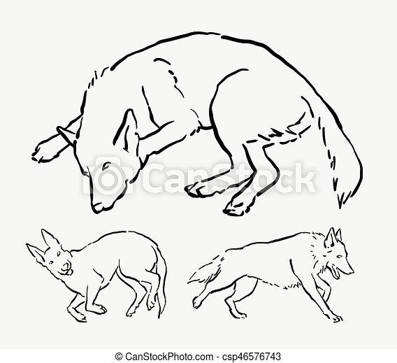 Chuze Spaci Kresleni Pes Mazlicek Inkoust Pes Animalni