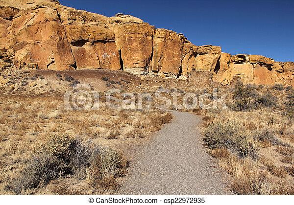 Chaco Canyon Interpretive Trail - csp22972935