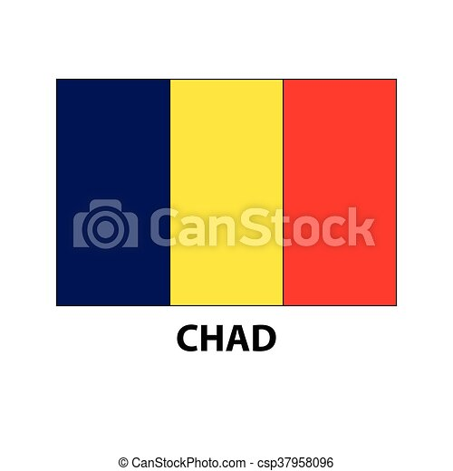 Chad Flag Vector Icon Flag Of Chad Blue Yellow Red Flag Eps - Chad flag