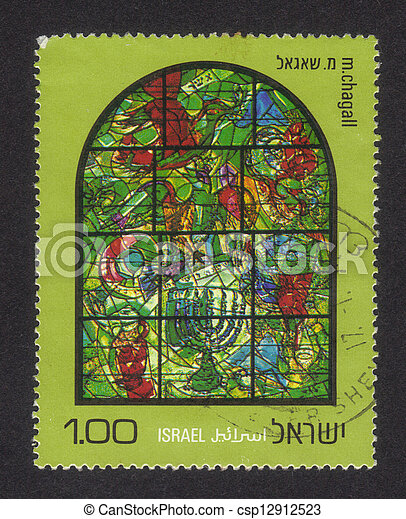 Chagall Windows - 12 Tribes of Isra - csp12912523
