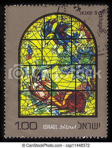 Chagall Windows - 12 Tribes of Israel  .Naphtali - csp11448372