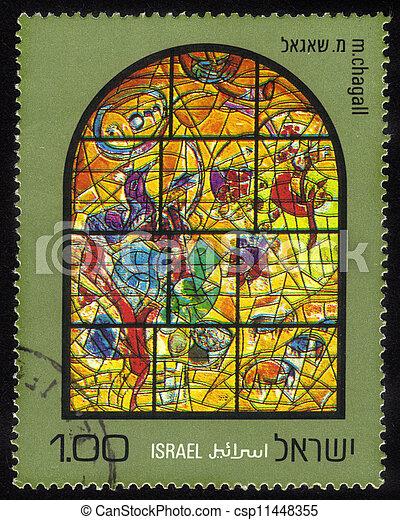 Chagall Windows - 12 Tribes of Israel .Joseph - csp11448355