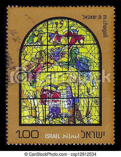Chagall Windows - 12 Tribes of Israel , Levi - csp12912534