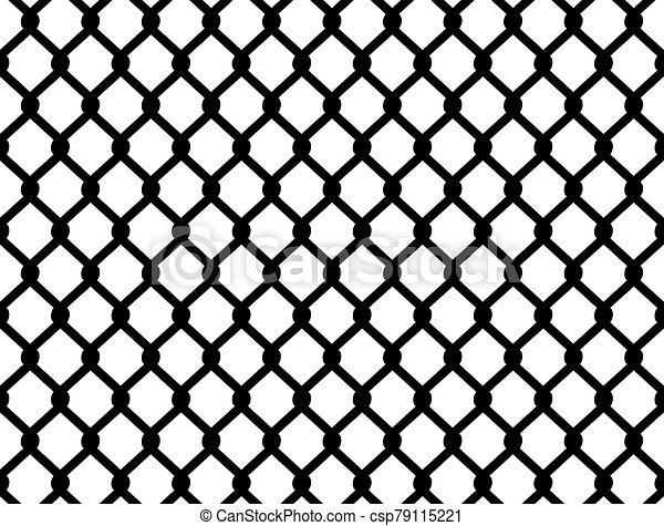 Chain link fence seamless - csp79115221