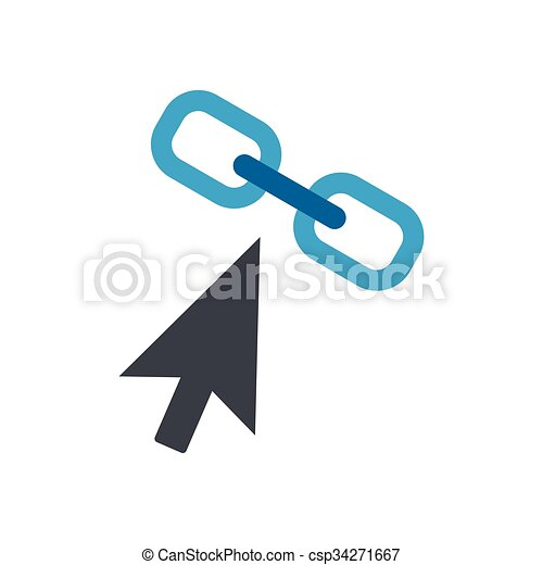 Chain link flat icon - csp34271667