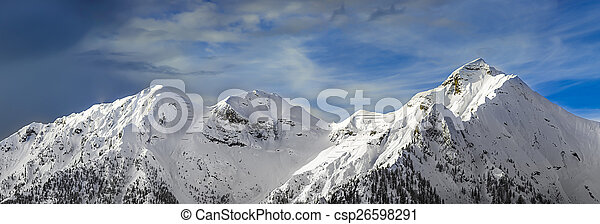 chain of mountains in the winter - csp26598291