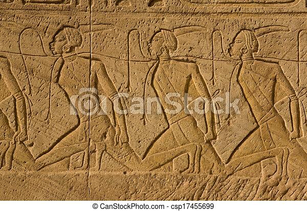 Chain of nubian slaves - csp17455699