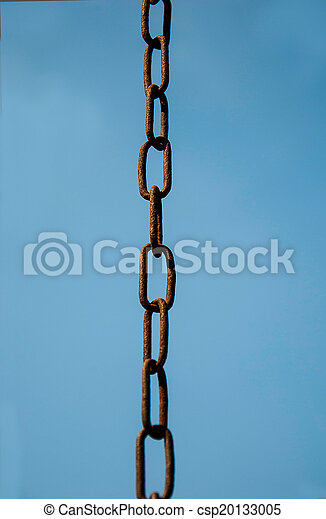chain on the background of sky - csp20133005