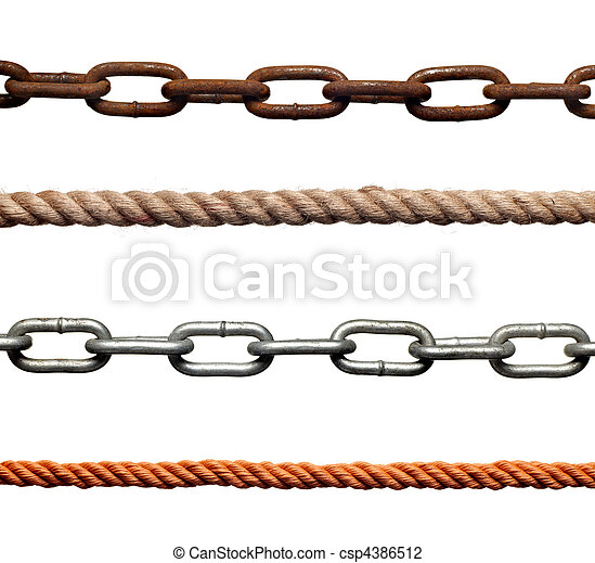 chain rope connection slavery strenght link - csp4386512