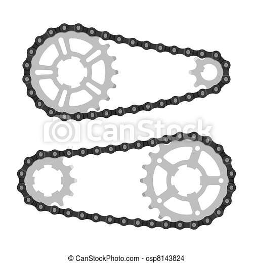 Chain with cogwheels - csp8143824