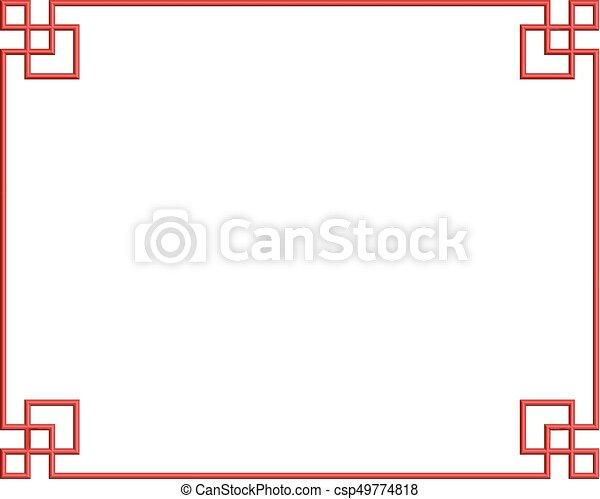 chaina pattern frame 04 - csp49774818