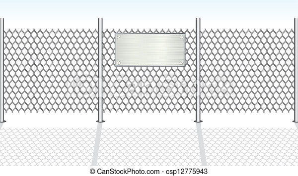 Chainlink Fence Vector Illustration Chain Link Fence