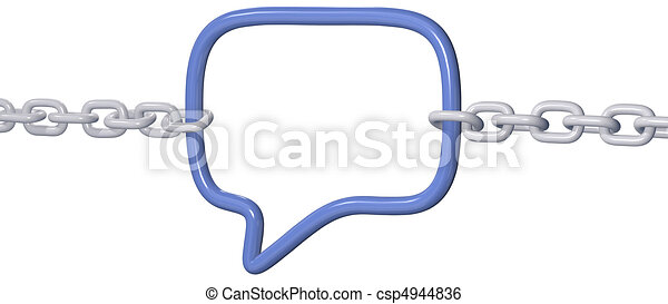 chains pull strong social media speech link - csp4944836