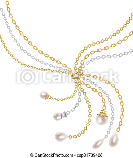 Chains with pearls - csp31739428