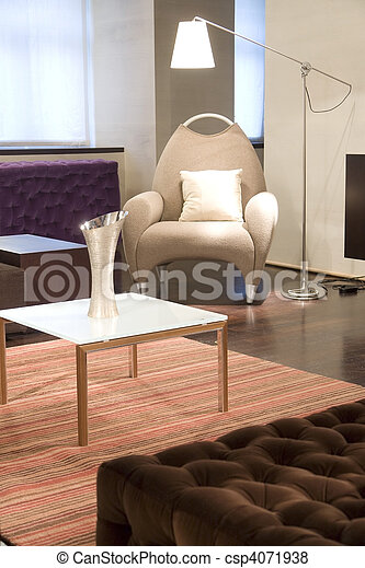 chair and coffee table - csp4071938