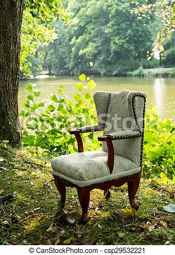 Chair at the lake - csp29532221