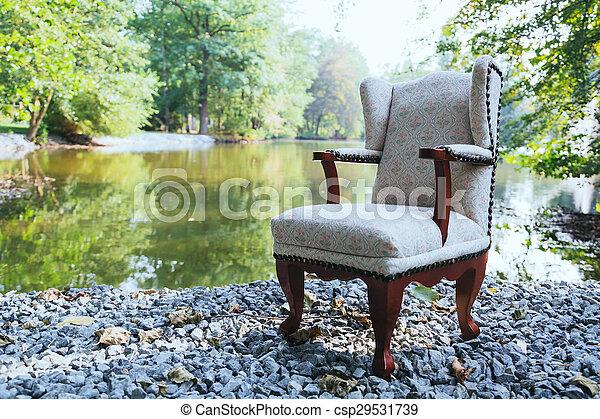 Chair at the lake - csp29531739
