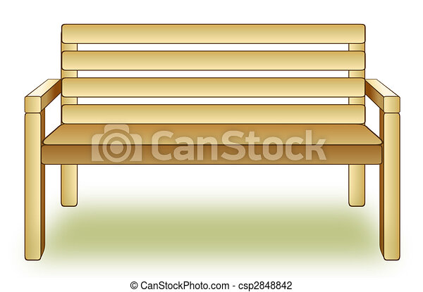 Drawing Of Wood Chair In A White Background Clip Art