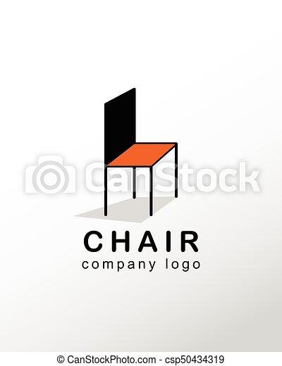 Chair company logo vector design.