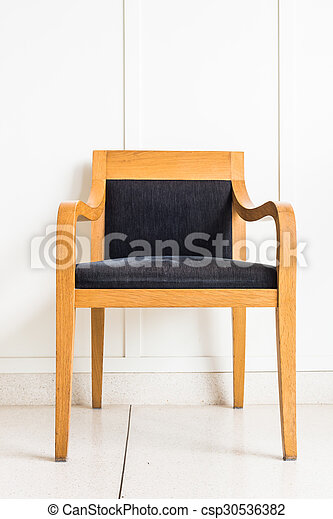 Chair furniture decoration on white wall - csp30536382