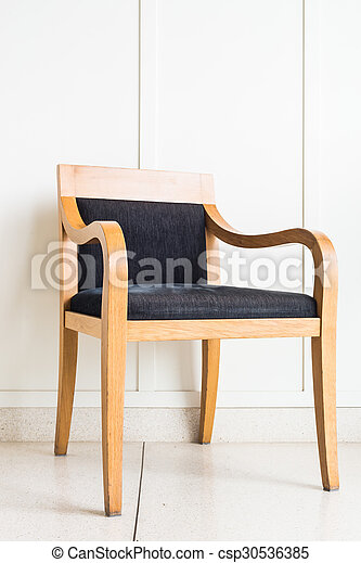 Chair furniture decoration on white wall - csp30536385