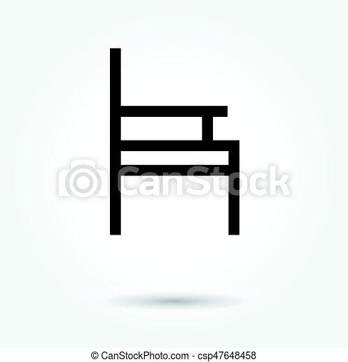 chair icon, modern design web element on white background. logo - csp47648458