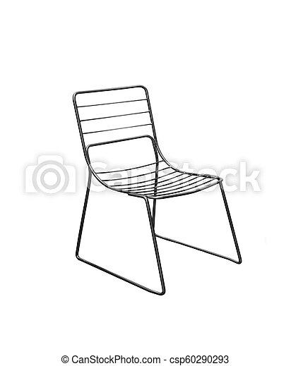Chair isolated on white - csp60290293