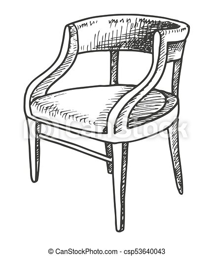 Excellent Chair Sketch Isolated On White Background Vector Illustration Pdpeps Interior Chair Design Pdpepsorg