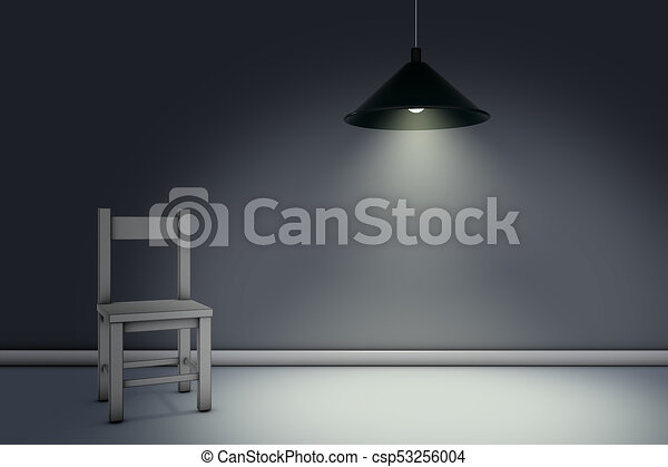 chair under lamp