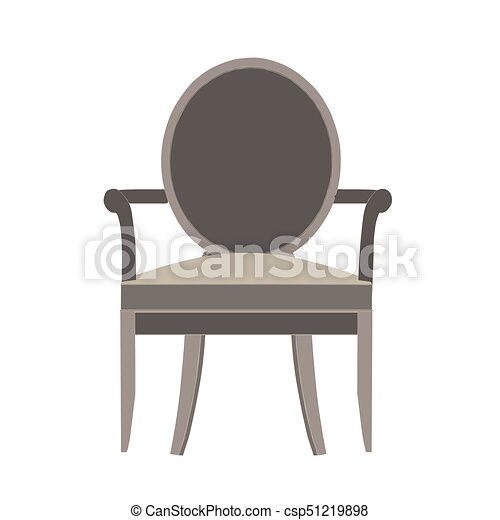 Chair vector icon illustration isolated view furniture design flat style retro modern - csp51219898
