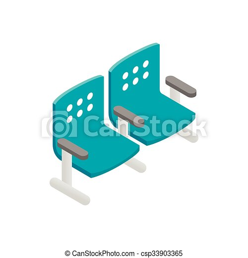 chairs waiting area isometric 3d icon isolated on a white clip rh canstockphoto com furniture clipart to scale furniture clipart to scale