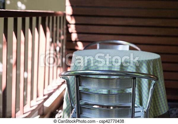 Chaise Balcon Metal Jardin Terrasse