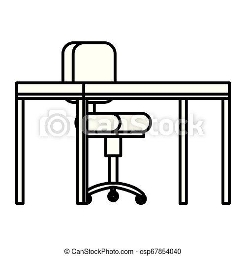 chaise bois, bureau bureau - csp67854040
