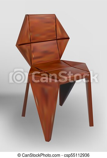 chaise bois, desinger - csp55112936