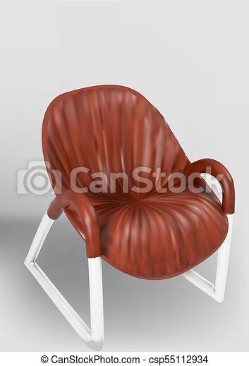 chaise bois, jambes, métal - csp55112934