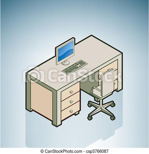 chaise, bureau bureau - csp3766087