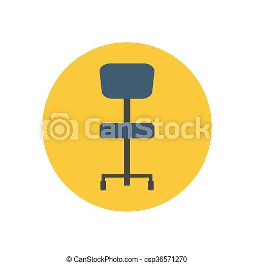 chaise, bureau, illustration - csp36571270