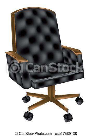 chaise cuir, bureau - csp17589138