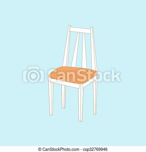 chaise, cuisine, icône - csp32769946