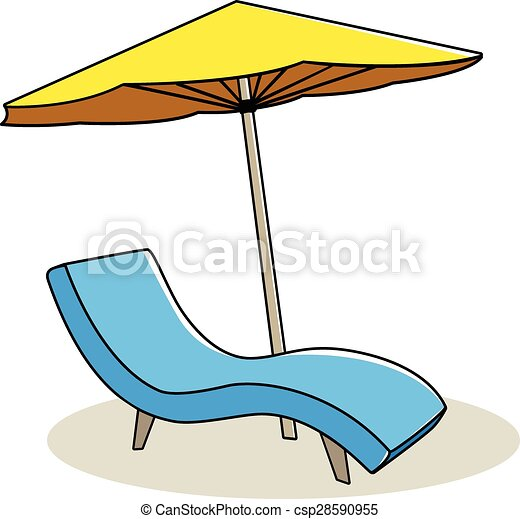 chaise, délassant - csp28590955