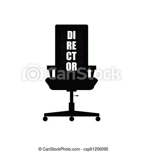 chaise directeur, illustration - csp61256095