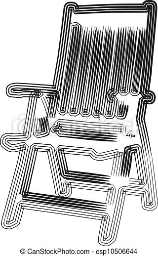 chaise, extérieur, illustration - csp10506644