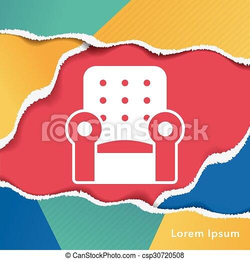 chaise, icône - csp30720508