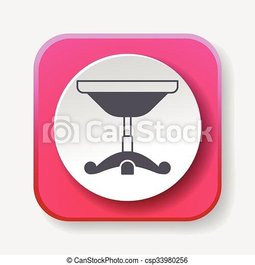 chaise, icône - csp33980256