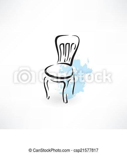 chaise, icône - csp21577817