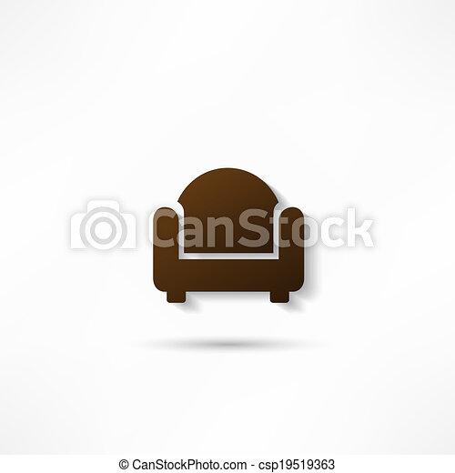 chaise, icône - csp19519363
