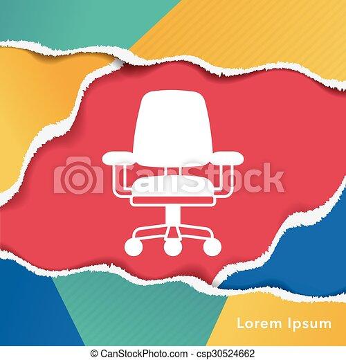 chaise, icône - csp30524662